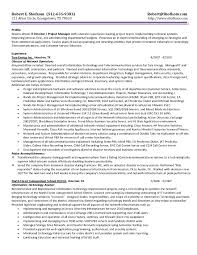 Sample Resume Information Technology Project Manager Inspirationa
