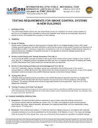 Smoke Control System Design Testing Req For Smoke Control Systems