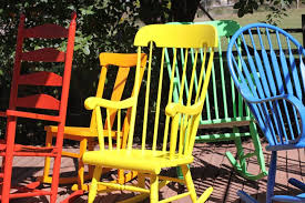 thing i learned this weekend rocking chairs have lots of nooks crannies and curves they are not easy to paint