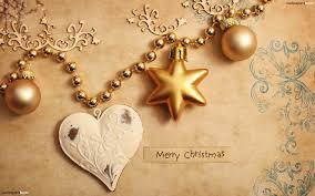 Christmas Decoration Golden Christmas Decoration Hd Wallpaper
