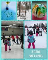 winter outdoor activities. 25 Fun Outdoor Winter Activities For Families Made Easy With Club House #SlowCookFun