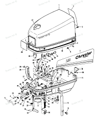 watch more like chrysler parts diagram diagram of 7 5 1979 mercury chrysler outboard 70b9a engine cover and