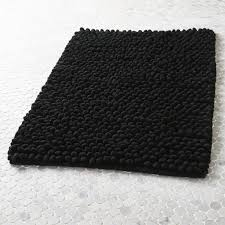 cirrus black bath mat
