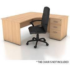 high office desk. Plain High Right Hand Radial Panel End Office Desk With 3 Drawer High Pedestal  Beech Bundle Offer And High Office Desk