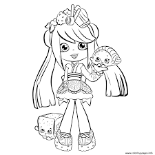 Shopkins Shoppies Coloring Pages Print Cute Season 5 Best Free