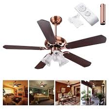 48 52 opt 5 blades ceiling fan with 3 light 3 sd kit