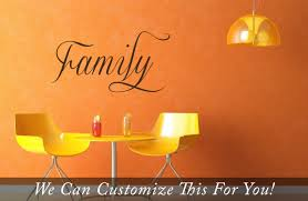 Wall Decor Sticker Family Word A Wall Decor Vinyl Lettering Decal Sticker Home