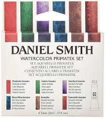Daniel Smith 285610006 Extra Fine Primatek Introductory Watercolor 6 Tubes 5ml