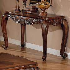 wooden console table. Victoria Brown Wood Console Table Wooden I