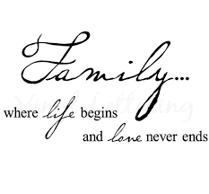 Wholesale Family Where Life Begins And Love Never Ends 125 H X 23 W Vinyl Lettering Wall Sayings Art Decor Decal Sticker Word Quote Wall Decals Quote