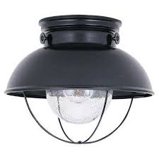 sebring 11 25 in w 1 light black outdoor flush mount