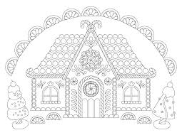 Gingerbread Pictures To Color L7440 Ginger Gingerbread House