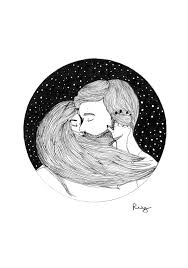 The Big Bang By Rux Drilea March 2016 Couple Kissing Drawing