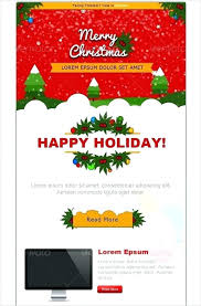 Holiday Newsletter Template Classy Email Christmas Card Template