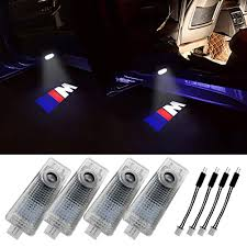 Grolish Bmw Accessories Car Door Led Logo Lighting Projector Welcome Lights For Bmw M 4 Pack