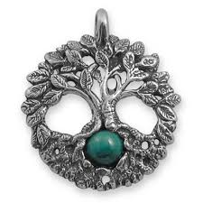 celtic tree of life sterling silver pendant with gemstone at mystic convergence metaphysical supplies metaphysical