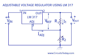 ic voltage regulators circuit diagram design theory adjustable voltage regulator using lm317
