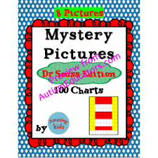 Dr Seuss Chart Mystery Pictures Dr Seuss Edition Math 100 Chart Numbers
