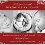 Birth Announcement Christmas Cards Christmas Lights Card And