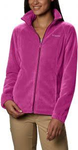 Columbia Womens Benton Springs Classic Fit Full Zip Soft Fleece Jacket Fuchsia M