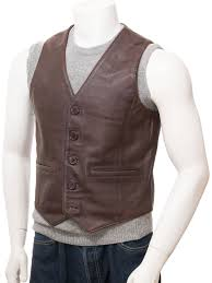 brown leather waistcoat black er jacket flight jacket mens leather er jackets