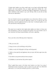 High School Graduate Cover Letter Examples Milviamaglione Com
