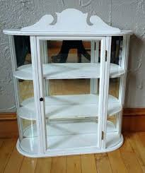decoration small curio cabinet vintage with curved glass this once was a sad little wall