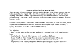 comparing the giver book the movie google docs