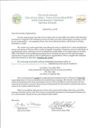 Letter Of Recommendation For Community Service Award Application Window Extended Joint Community Volunteer