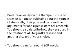 all living organisms are composed of cells unicellular organisms  produce an essay on the therapeutic use of stem cells