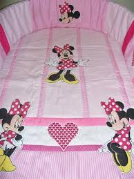 minnie mouse cot bedding set for a baby girl quilt per fitted sheet pillowcase