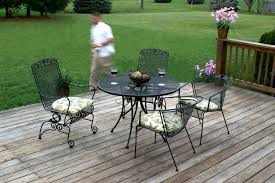 deck wrought iron table. Wrought Iron Table And Chairs Furniture Coffee For Outdoor Durable Decorative Deck A