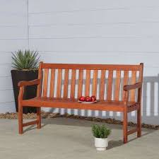 baltic 5 ft eucalyptus wood garden bench