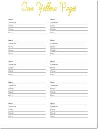Family Contact List Template Free Printable Contact List Ellipsis Wines