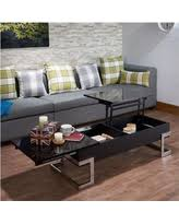 ACME Calnan Lift Top Coffee Table, Black And Chrome