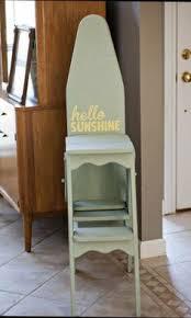 ironing board furniture. vintage wood ironing boardchairstool board furniture