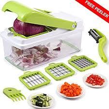 amazon com vegetable chopper upintek vegetable fruit dicer