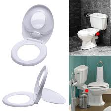 details about 2 in 1 family toilet seat with built in child potty training seat soft close lid