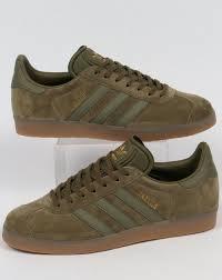 adidas khaki trainers. adidas gazelle trainers olive/gum khaki s