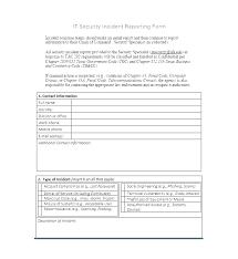 Computer Incident Response Plan Template Team Sample
