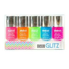 claire 39 s makeup set. neon glitz nail polish set of 5 claire 39 s makeup