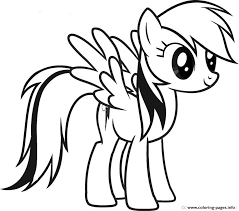 Small Picture RAINBOW DASH COLORING Pages Free Download Printable