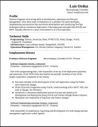 Freelance Software Engineer Resume This Is A Summary Of My