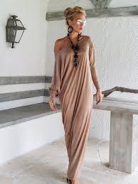 Brown Maxi Long Sleeve Dress Brown Kaftan Asymmetric Plus Size Dress Oversize Loose Dress