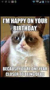 grumpy cat birthday quotes. Delighful Birthday Happy Birthday From Grumpy Cat Grumpy Cat Pinterest To Cat Quotes