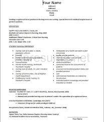 New Grad Nursing Resume Template Best of New Grad Rn Resume Template New Grad Resume Template New Grad Rn In