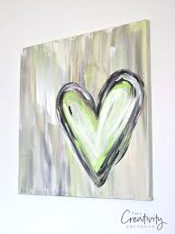 diy canvas painting ideas diy abstract heart painting cool and easy wall art ideas