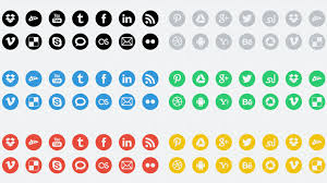 round social media icon. Delighful Round Thislooksgreatnet  Freebie 20 Round Social Media Icons In 6 Colors U2013  Inside Round Social Media Icon A