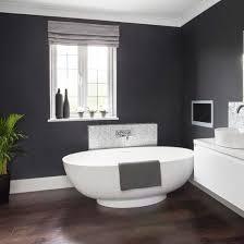 Dramatic dark grey bathroom walls   Glamorous grey bathroom   Makeover    PHOTO GALLERY   Ideal