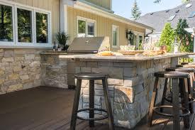 custom blend stone veneer to match house with bullnose granite countertop